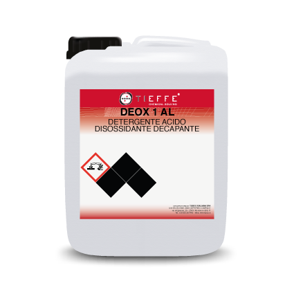 DEOX 01 AL Detergente acido disossidante e decapante